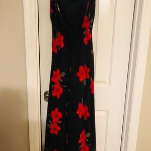 Black & Red Floral Dress